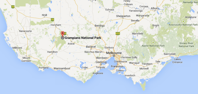 map Grampians